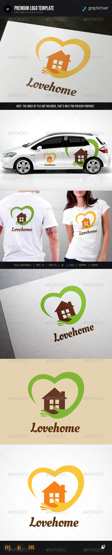 Lovehome logo - Buildings Logo Templates