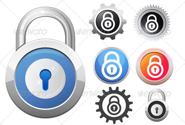 Lock Icon Illustration - Web Technology