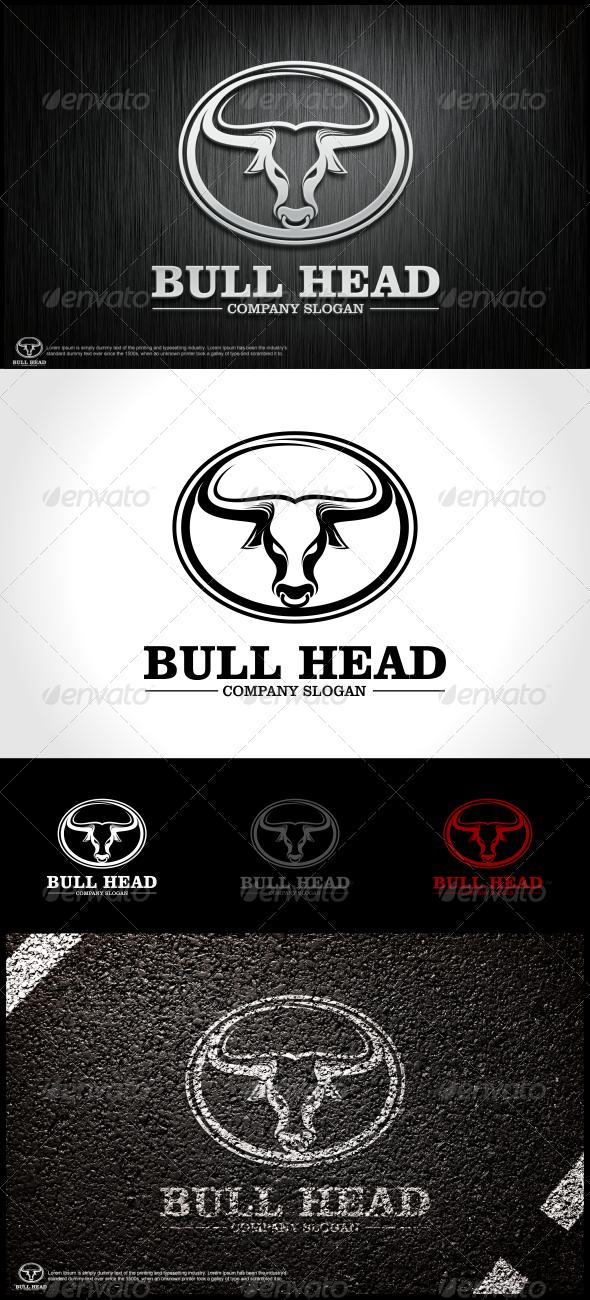 Bull Head Logo Template - Animals Logo Templates