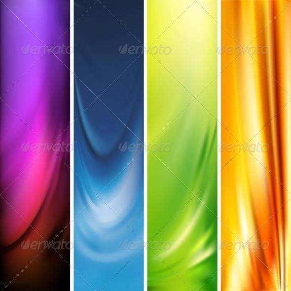 Vector Vertical Banner - Backgrounds Decorative