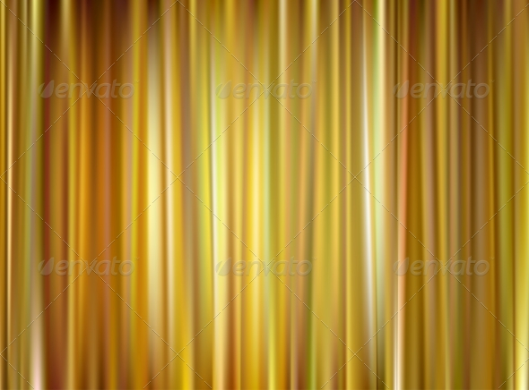 Vector Gold Curtain - Backgrounds Decorative