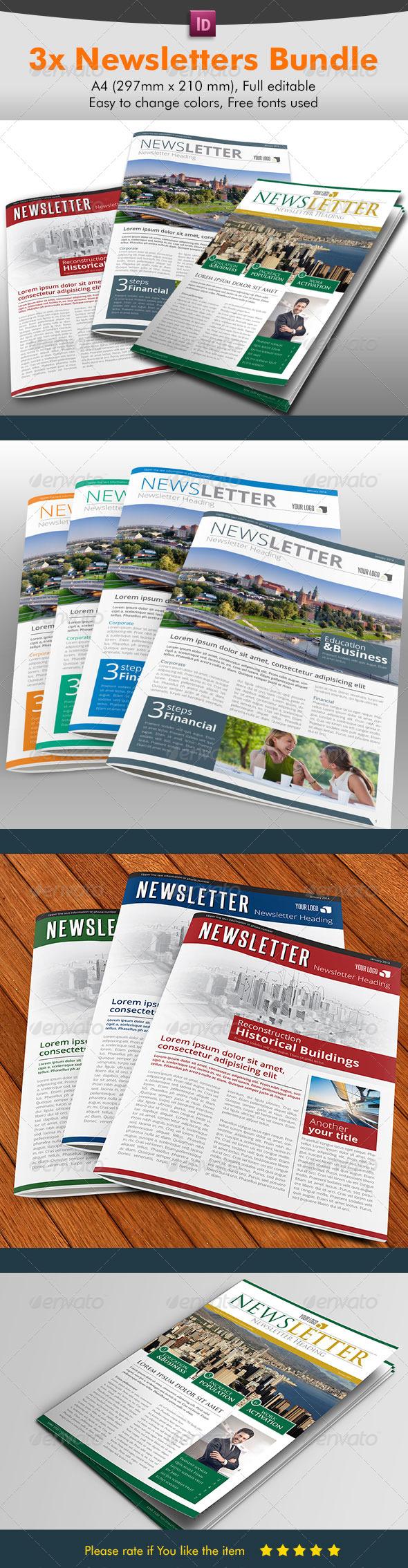 Newsletter Bundle Pack - Newsletters Print Templates
