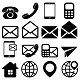 """""""Contact Us"""" Icons Set - GraphicRiver Item for Sale"""