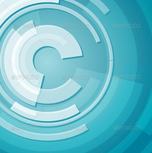 Abstract Technology Circles Background - Abstract Conceptual
