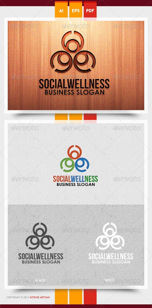 Social Wellness Logo Template - Humans Logo Templates