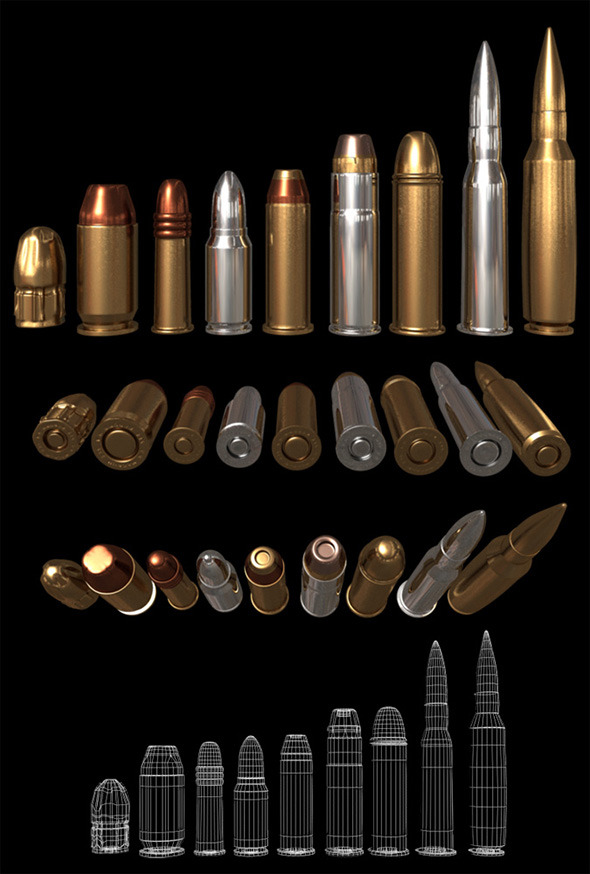 Bullets - 3DOcean Item for Sale