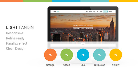 Light Landin Multipurpose Parallax Landing Page - Landing Pages Marketing