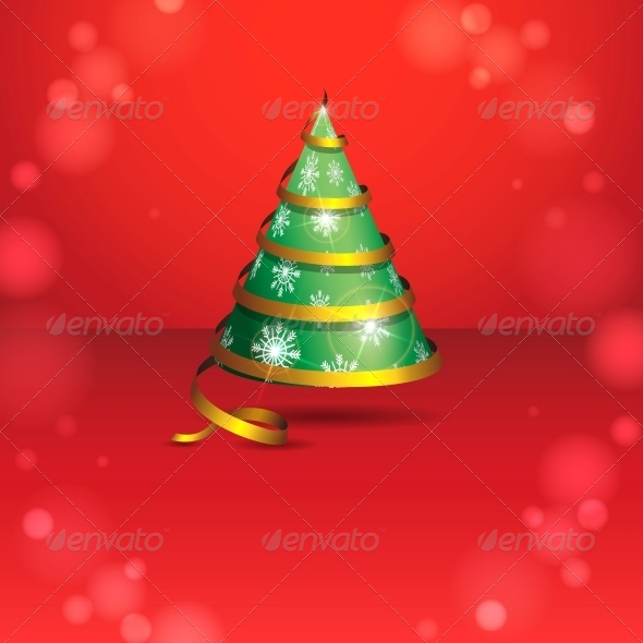 Stylized Ribbon Christmas Tree - Christmas Seasons/Holidays
