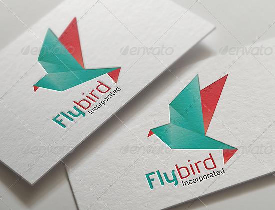 Origami Bird Logo by MAOV | GraphicRiver