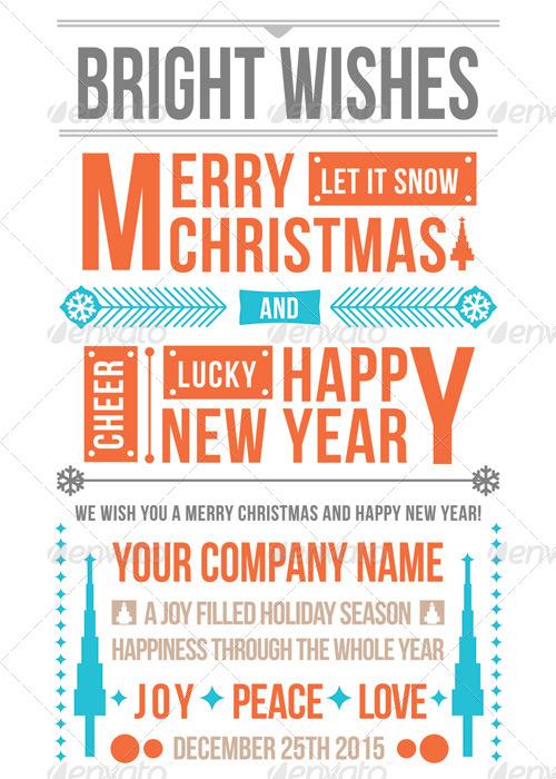 Merry Christmas Typo Greeting