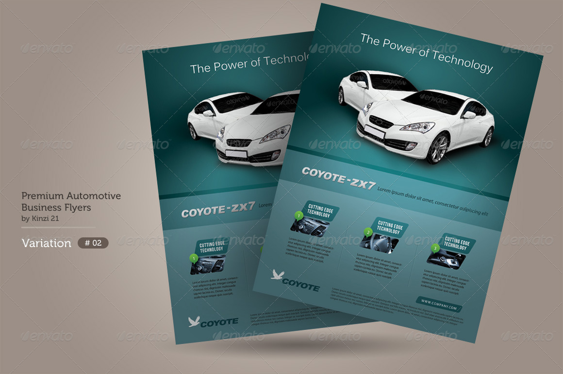 premium automotive business flyers by kinzi21 graphicriver