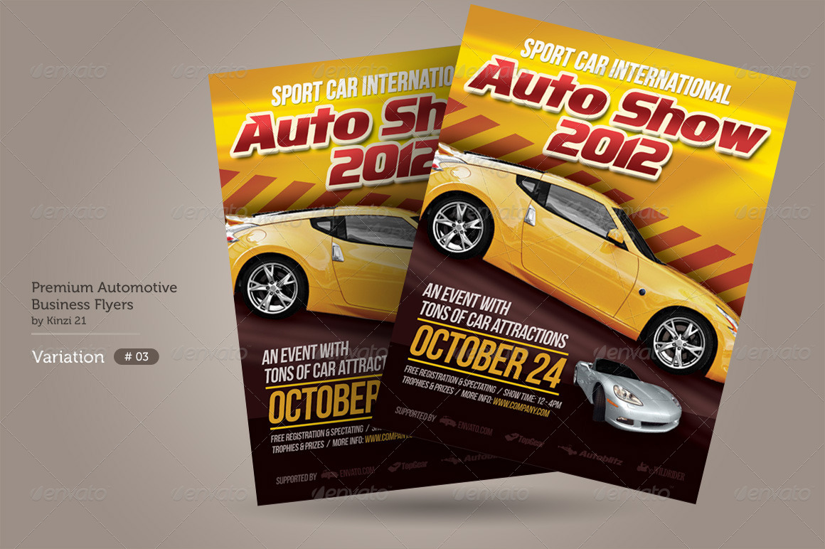 ... Premium Automotive Business Flyers Preview Set/03_auto Show Flyer  Template Graphic River ...  Car Flyer Template