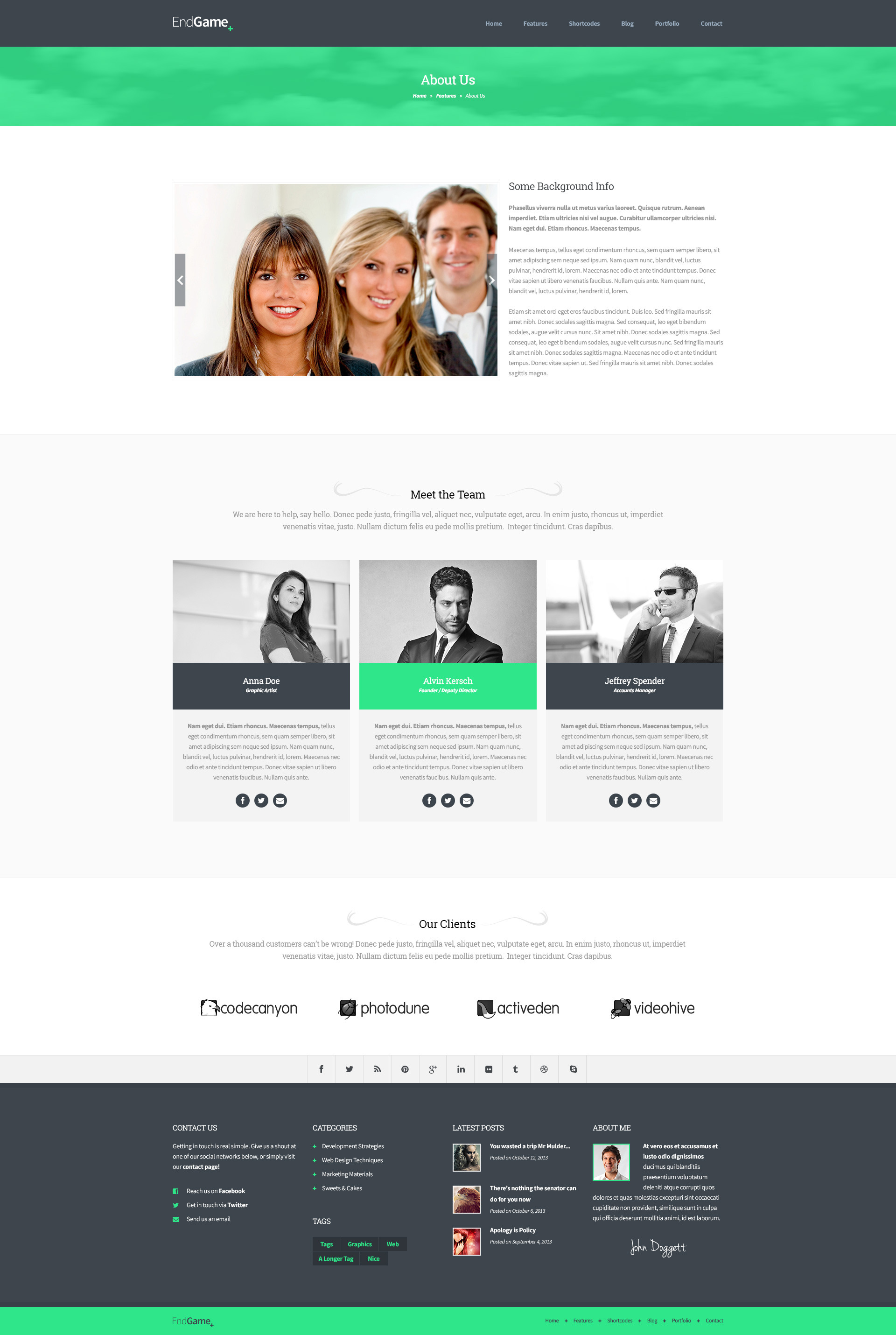 About Us Templates Geccetackletartsco - About page template