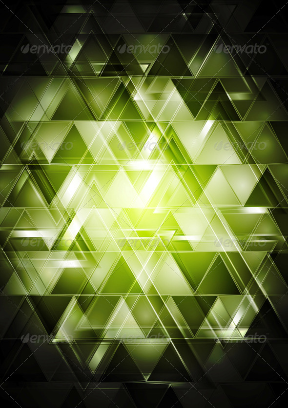 Abstract Glossy Hi-Tech Backdrop - Backgrounds Decorative