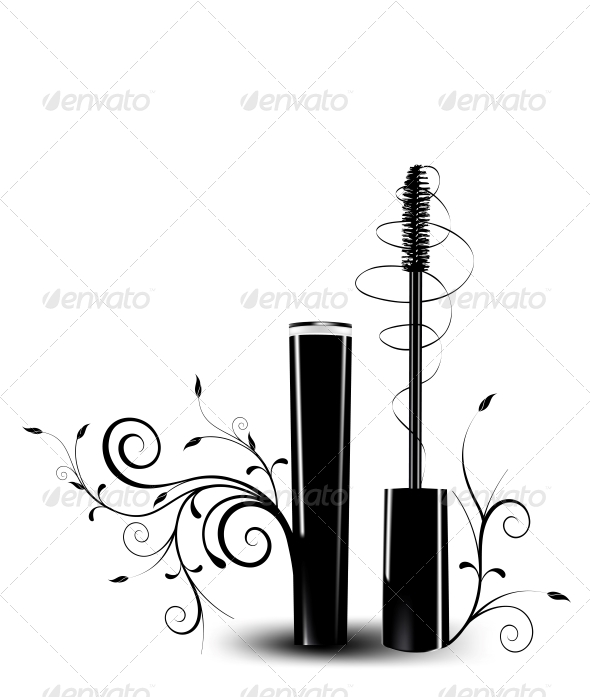 Ink for Eyelashes with Ornament - Patterns Decorative