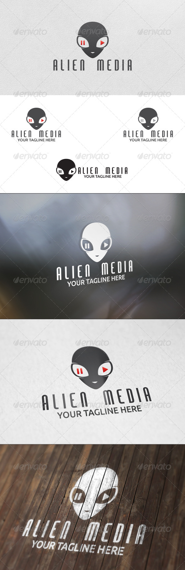 Alien Media - Logo Template - Humans Logo Templates