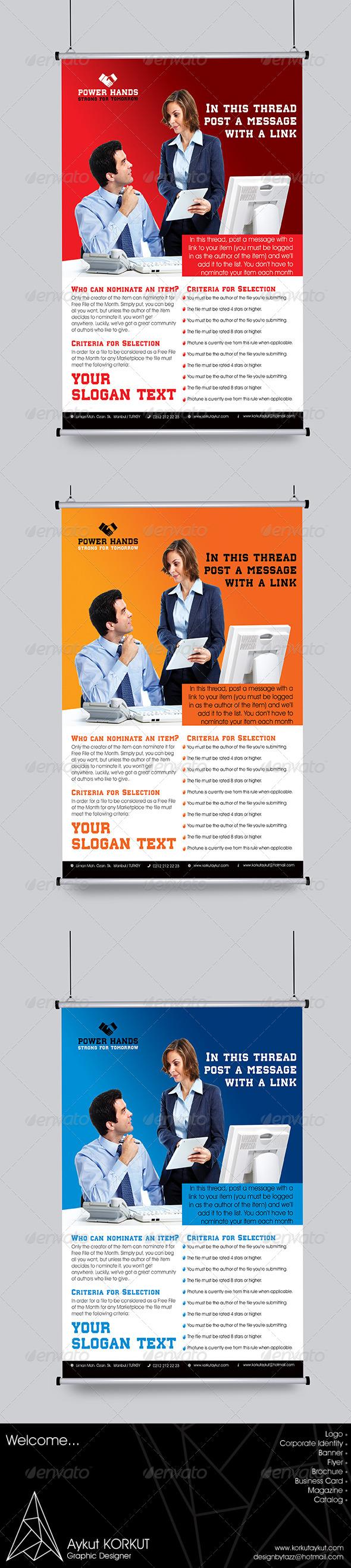 Power Hands Flyer Template - Flyers Print Templates