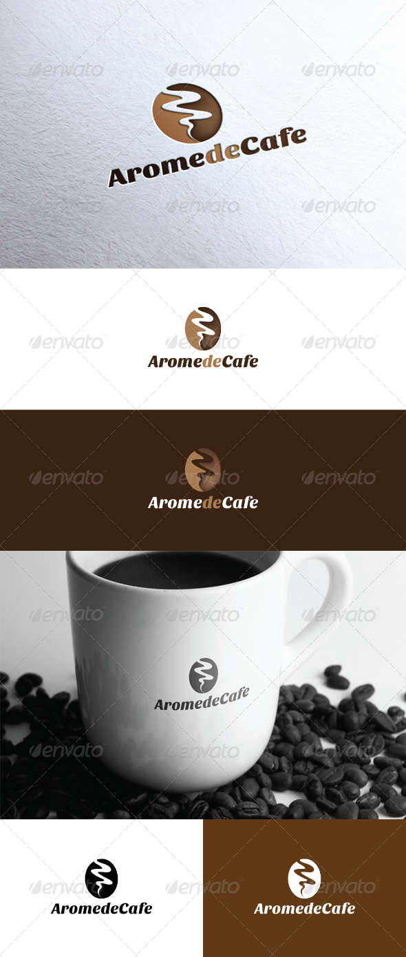 Arome De Cafe Logo - Vector Abstract