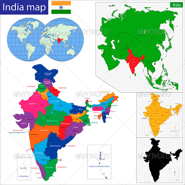 India Map - Travel Conceptual