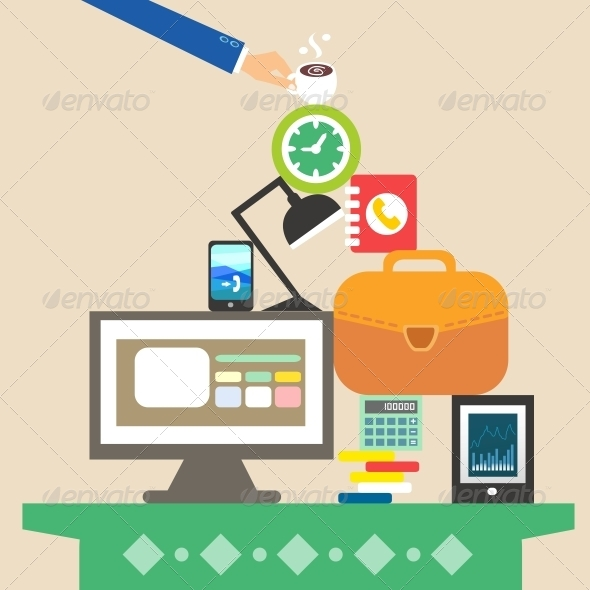 Workplace and Business Objects for Hard Work - Concepts Business