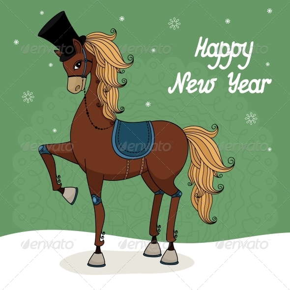 Happy New Year - Animals Characters
