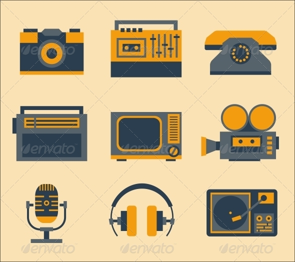 Retro Media Icons - Media Technology