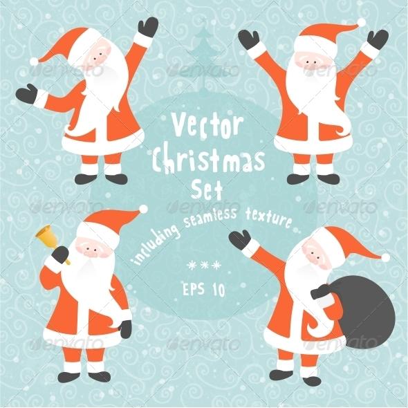 Vector Christmas Set  - Christmas Seasons/Holidays
