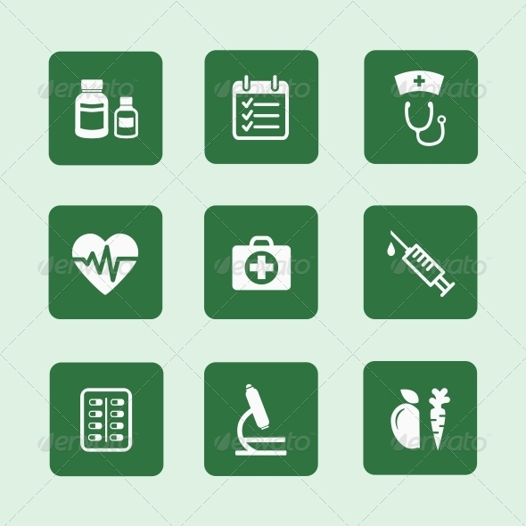 Health Icons Set - Health/Medicine Conceptual