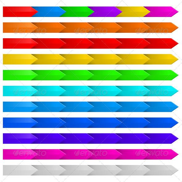Set of Arrows. - Decorative Symbols Decorative