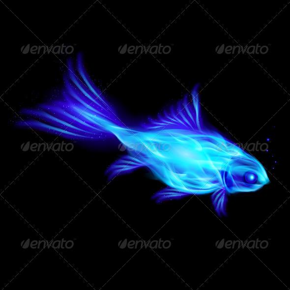 Fire Fish. - Objects Vectors