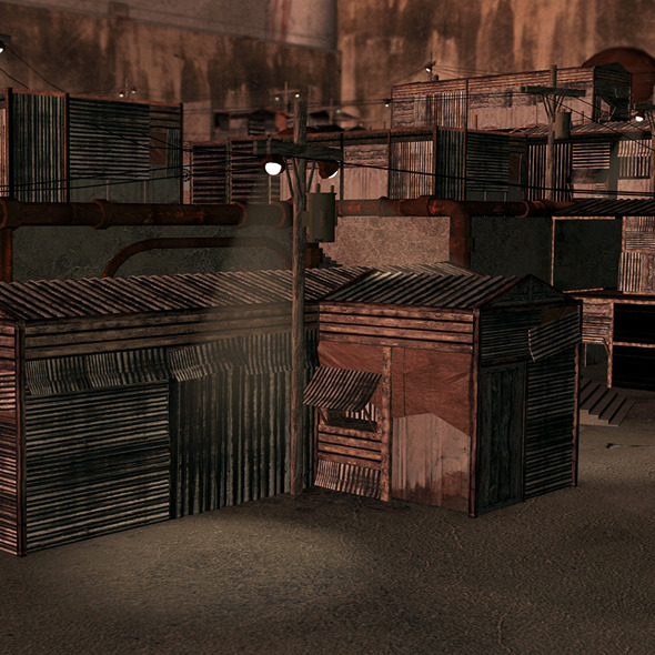 Complete Slums Building Collection - 3DOcean Item for Sale