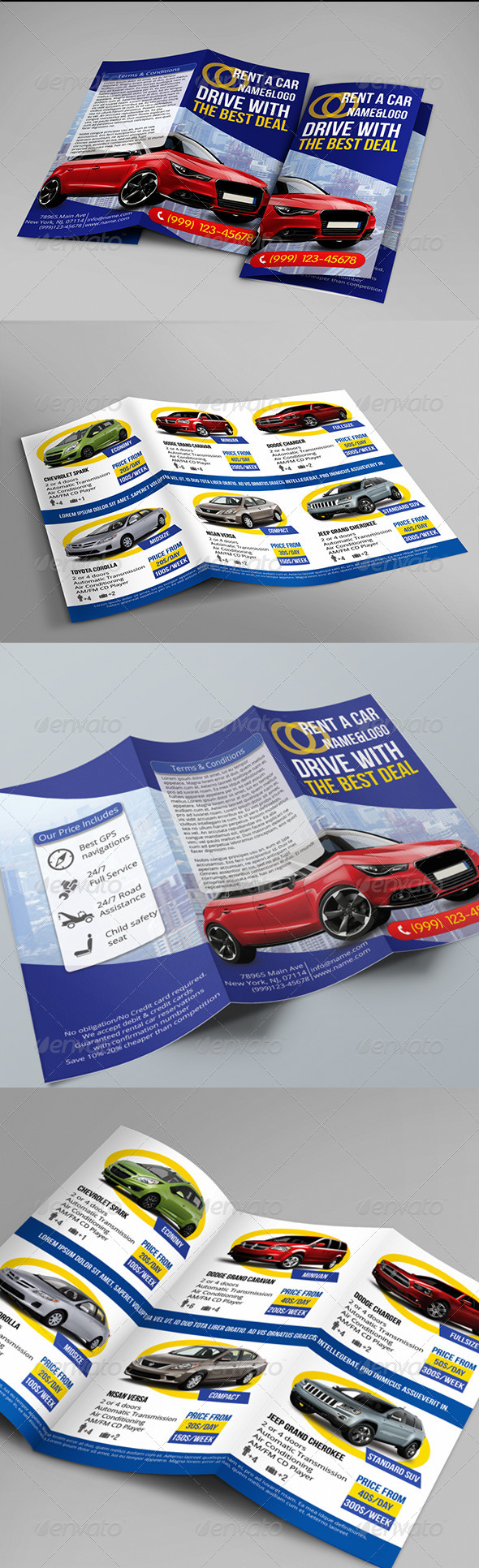 Rent a Car Trifold - Catalogs Brochures