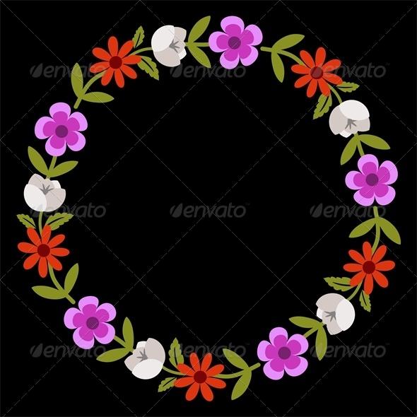 Floral Wreath - Borders Decorative