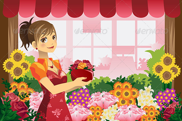 Florist Girl - People Characters