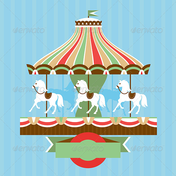 Vector Card with Carousel - Seasons/Holidays Conceptual