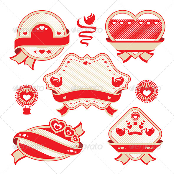 Valentine's Day Decorative Labels - Valentines Seasons/Holidays
