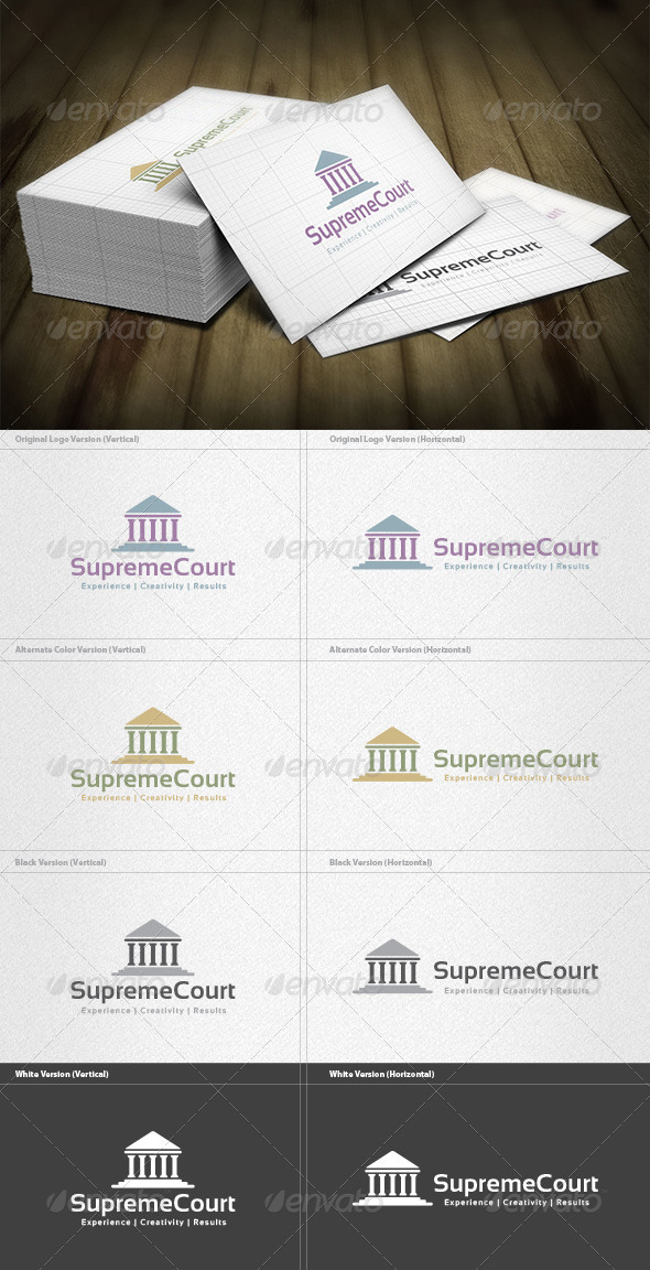 Supreme Court  Logo - Buildings Logo Templates