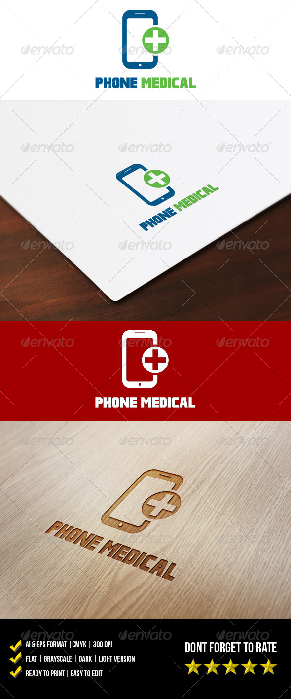 Phone Medical Logo - Objects Logo Templates