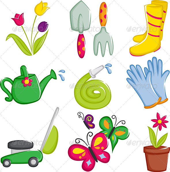 Spring Gardening Icons - Icons
