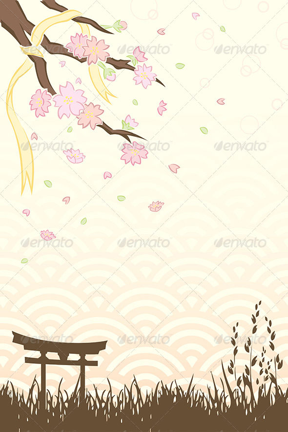 Cherry Blossoms - Decorative Vectors