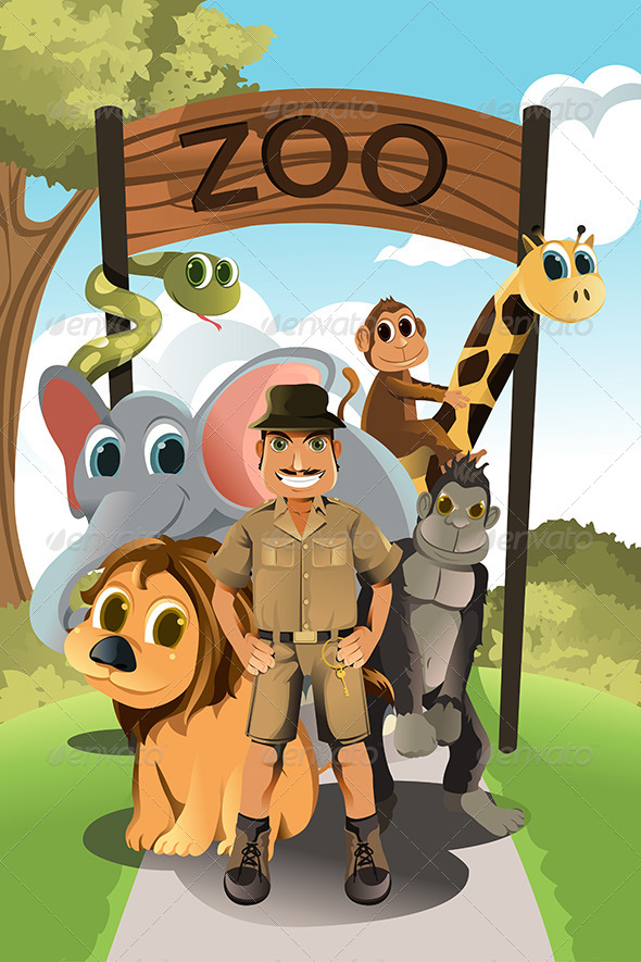 Zookeeper and Wild Animals - Animals Characters