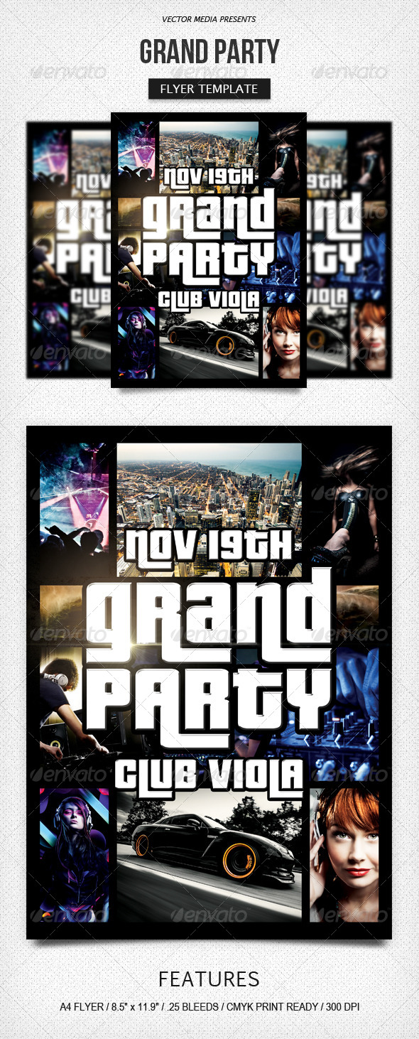 Grand Party - Flyer - Clubs & Parties Events
