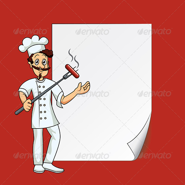 Cook with Blank Paper - People Characters