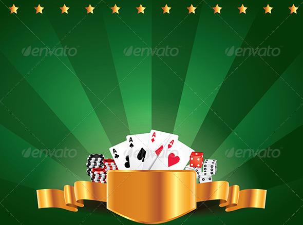 Casino Green Luxury Horizontal Background - Backgrounds Decorative