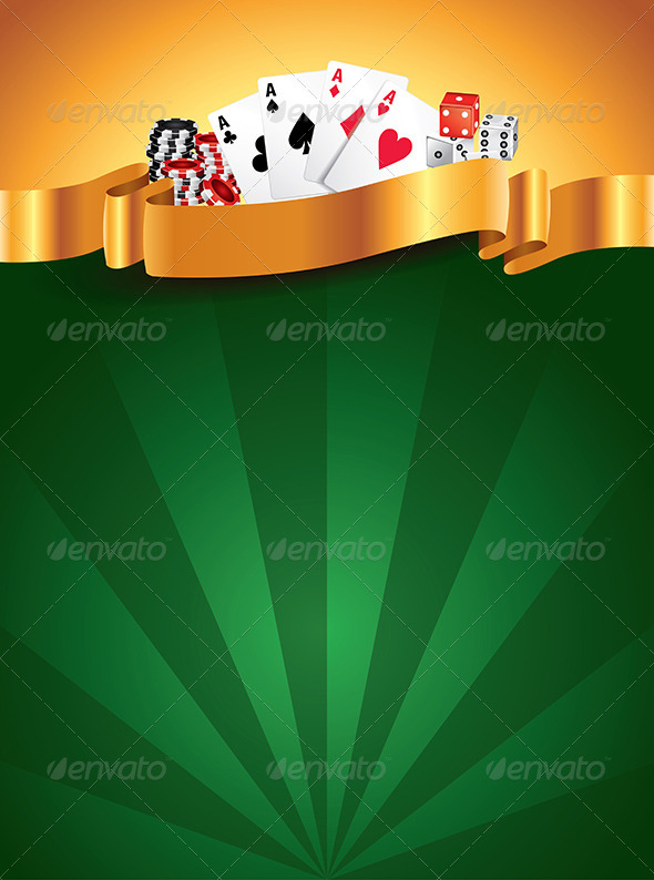 Casino Green Luxury Vertical Background - Backgrounds Decorative