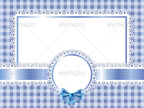 Children Blue Frame Vector Background - Borders Decorative