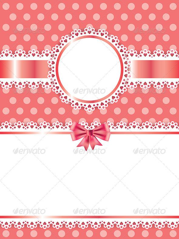 Children Pink Frame Vector Background - Borders Decorative