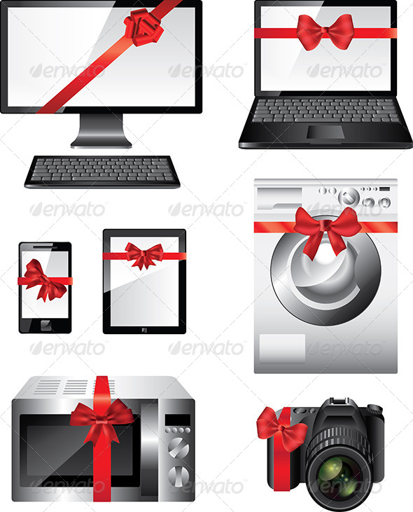 Popular Electronic Devices Packed as Presents - Computers Technology