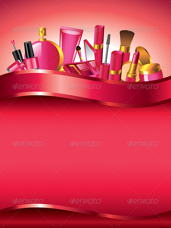 Cosmetics Vertical Vector Background - Backgrounds Decorative