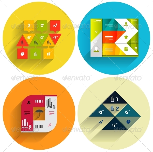 Geometric Flat Templates Icon Set - Computers Technology